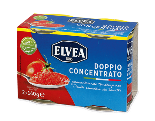 Doppio Concentrato - Elvea Double concentrated tomato paste 2 x 140 g