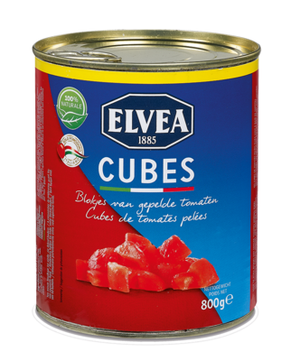 Cubes - Elvea Pomodori pelati a cubetti  800 g