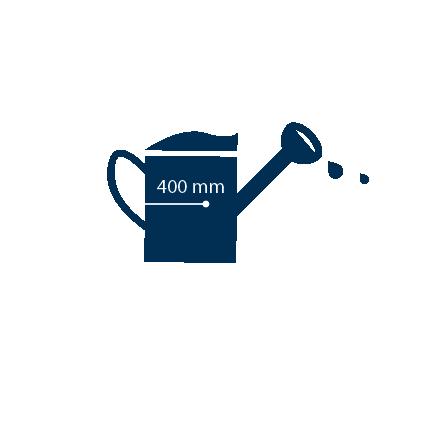 Een tomatenplant heeft ongeveer 400mm water nodig, afhankelijk van het klimaat.